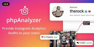 PhpAnalyzer – Instagram Analytics / Audit / Statistics Tool  Scripti